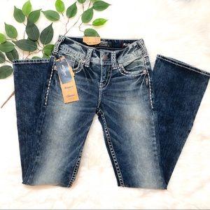 Suki Silver Jeans Mid Boot Cut Jean